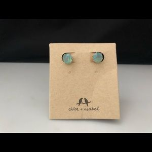 Chloe & Isabel Brilliant Stud Earrings Pacific